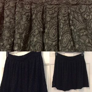 New love21 skirt w/lace overlay